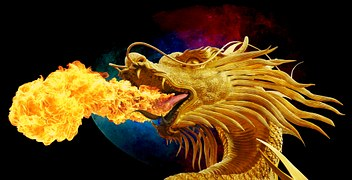 fire breathing dragon-253539__180