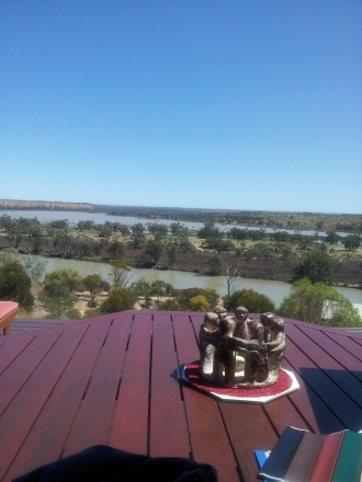 Overlooking the Murray River near Red Cliffs, Sth Australia