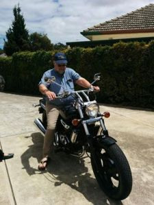 Markku on bike