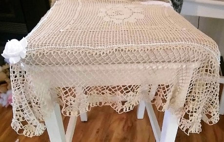 Altar cloth, crochet