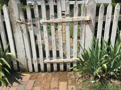 old wooden fence and gate