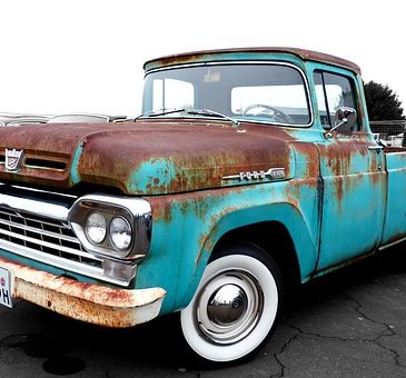 rusty old ute