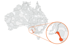 Map of Coorong region