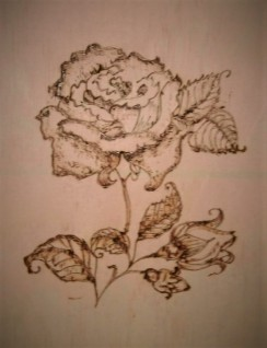woodburning rose 1